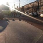 В Петербурге солнце спровоцировало ДТП