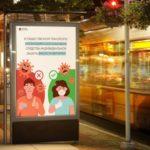 В Петербурге обновили рекламу, напоминающую о соблюдении масочного режима